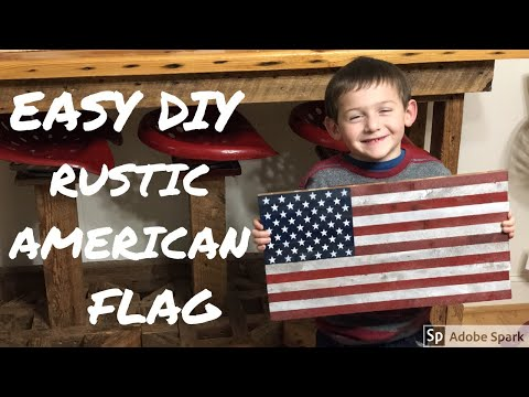 Rustic American Flag / Desktop Flag Project