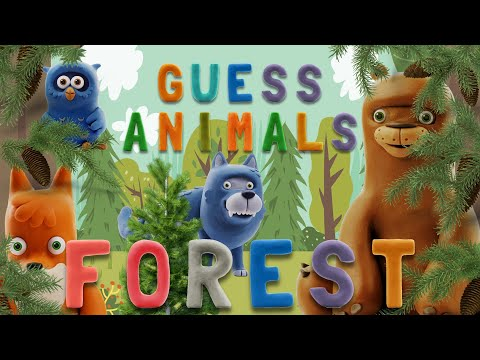 GUESS ANIMALS - FOREST  | Learn ABC And Animals Easily | Talking Abc