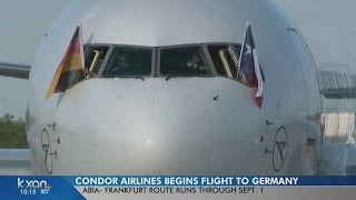 First nonstop flight to Frankfurt takes off from Austin airport