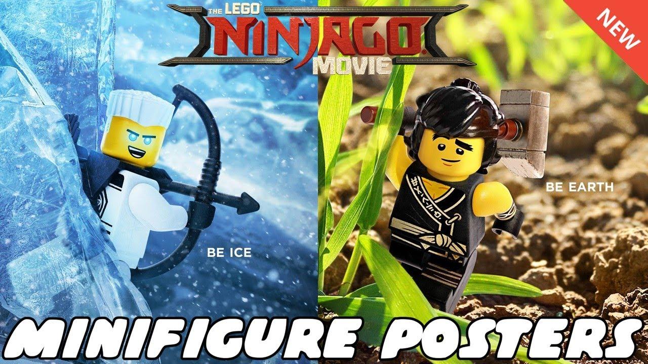 Special Lego Ninjago Movie Minifigure Posters Revealed Youtube