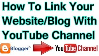 how to link Website Or blog with YouTube channel In Hindi Urdu