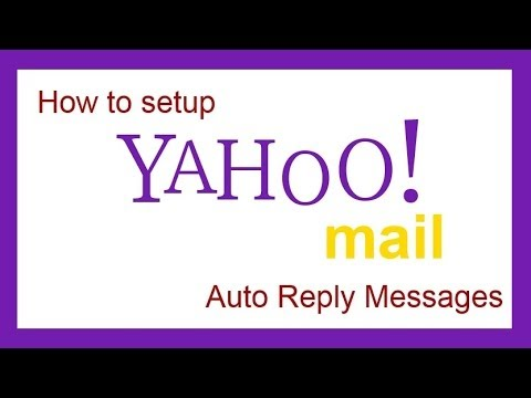 How To Setup Email Auto Reply In Yahoo Mail