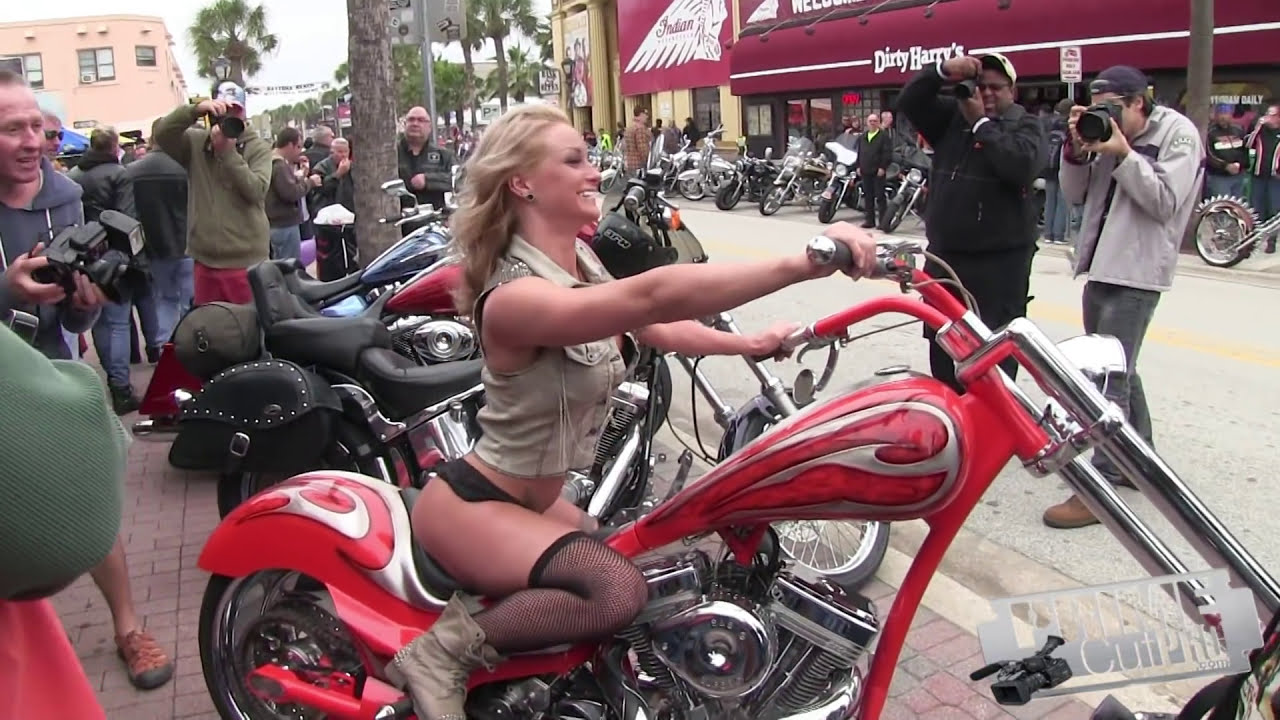 Beach week daytona babes bike
