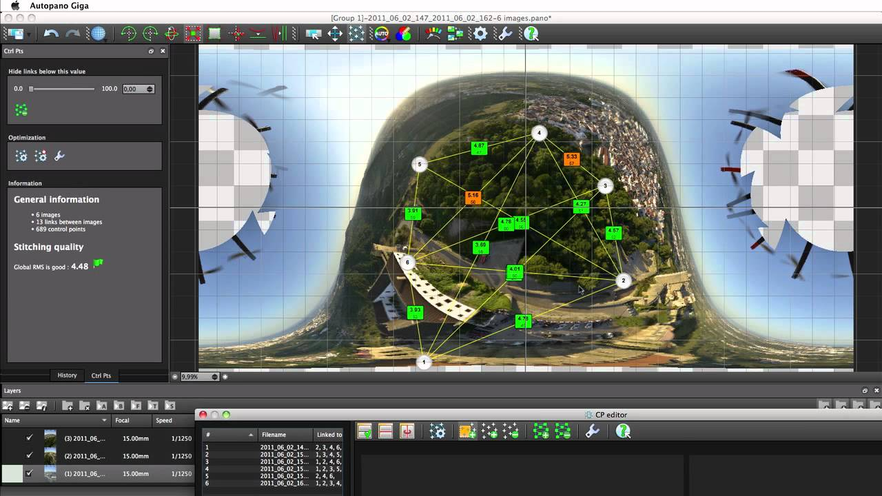 Aerial photography stitching with Autopano (Multiple viewpoints)