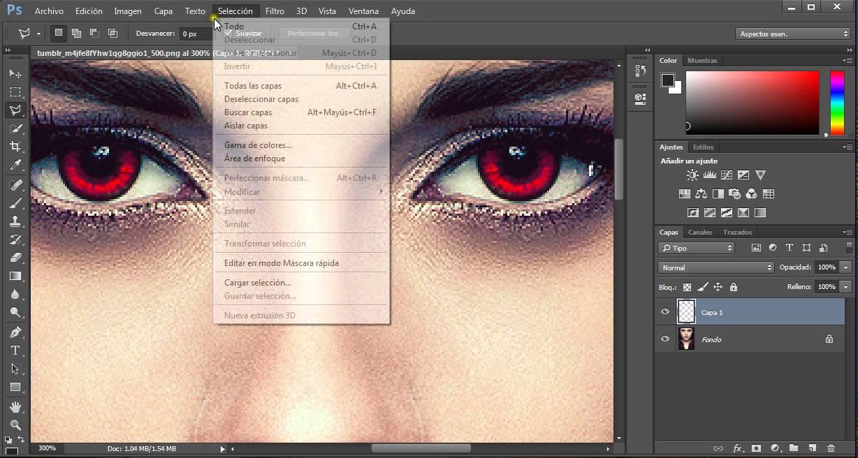 Ojos rojos eliminar photoshop