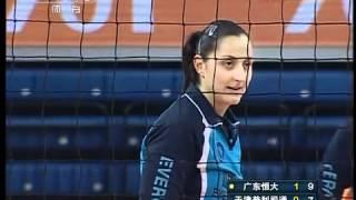 2012-02-11 Guangdong Evergrande 3-0 Tianjin Bridgestone 恆大女排-天津女排