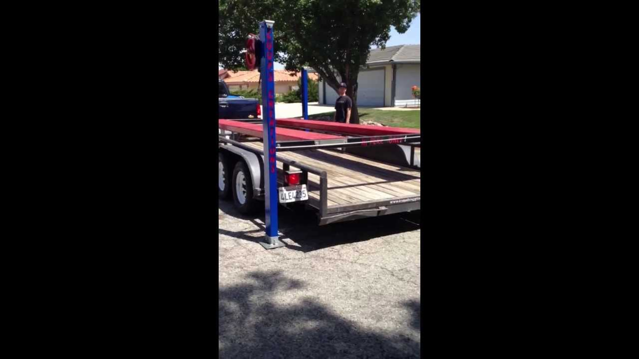 how to move a four post car lift the easy way youtube