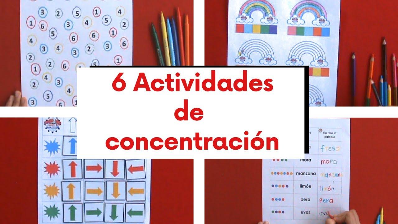 Download 6 ACTIVIDADES PARA TRABAJAR ATENCIÓN Y CONCENTRACIÓN