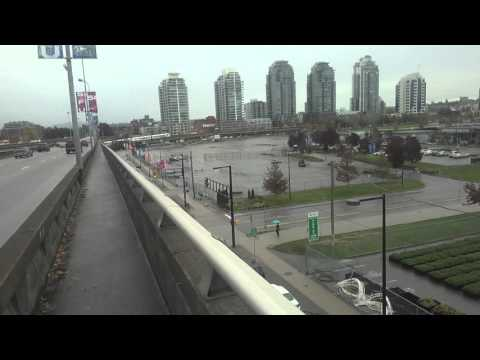 Walking in Vancouver from BC Place to SkyTrain near Pacific Station