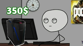 what it feels like to get a $350 gaming pc 2017*NEW*