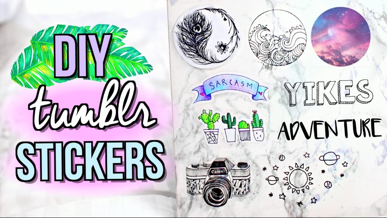 Diy Tumblr Stickers Without Sticker Paper Jenerationdiy Youtube