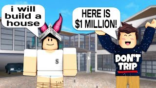 Baixar I PAID HER $1,000,000 TO BUILD MY HOUSE IN ROBLOX BLOXBURG!
