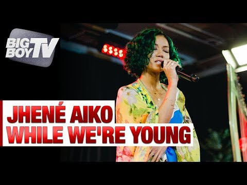 Jhené Aiko Performs While Were Young  Big Boys Backstage w Jhené Aiko