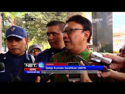 Menteri dalam negeri Tjahjo Kumolo serahkan LHKPN ke Gedung KPK - NET12