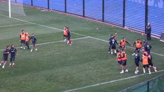 funny games during training spanish national football team