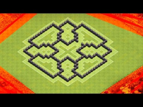 Clash Of Clans   BEST TH7 FARMING BASE   TRAPPED WALL PATTERNS !REUPLOAD!