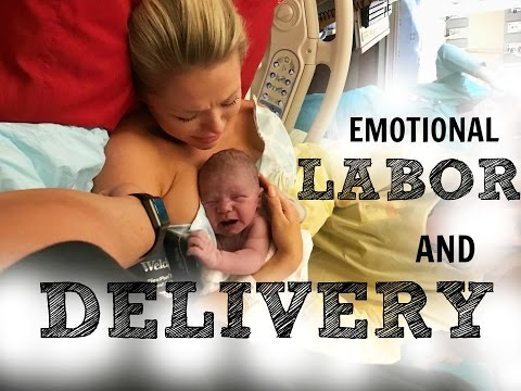 EMOTIONAL LABOR AND DELIVERY | LIVE BIRTH VLOG | BABY GOES T