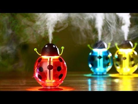 5b90dcbb1 Beetles Ultrasonic Humidifier Air Diffuser Night Light Aroma Mist Maker