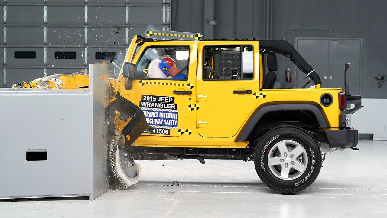 Marvelous 2015 Jeep Wrangler 4 Door Driver Side Small Overlap IIHS Crash Test    YouTube