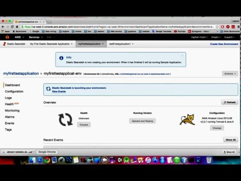 Deploy java web application in AWS