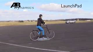 LaunchPad with cyclist dummy for ADAS testing