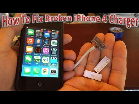 How To Fix Broken iPhone 4 Charger - YouTubeYouTube