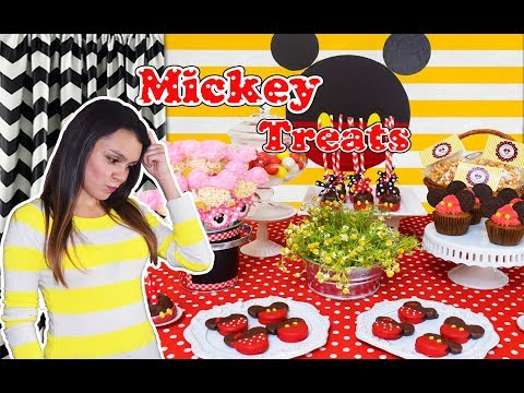 REPOSTERIA |MICKEY MOUSE TREATS IDEAS| POSTRES FACILES
