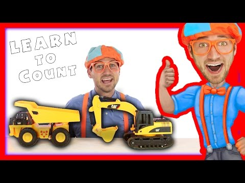 Thumbnail: Dump Truck and Excavator Counting | Learn to Count with Blippi Toys