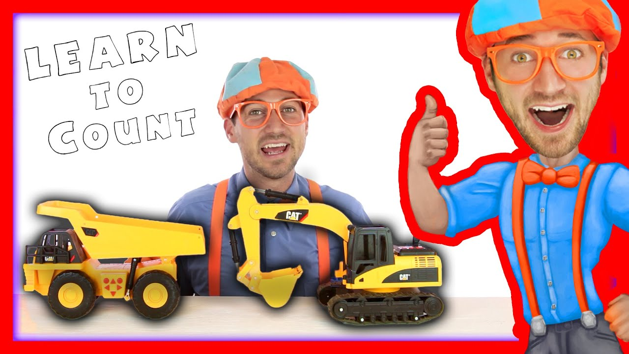 Download Dump Truck and Excavator Counting | Learn to Count with Blippi Toys