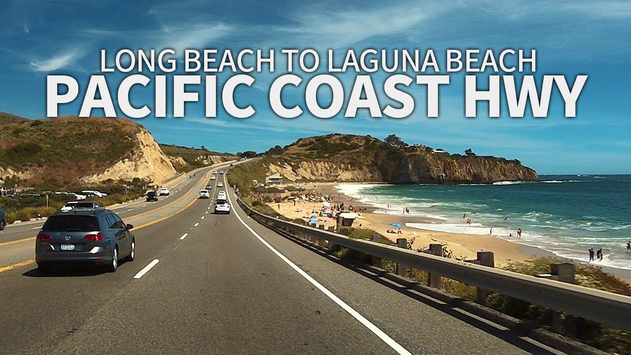 [Full Version] PACIFIC COAST HIGHWAY - Driving from Long Beach to Laguna Beach, California, USA