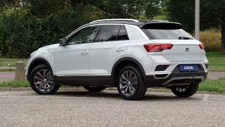Volkswagen NEW T-roc Sport 2018 White Silver - Black roof walk around & detail inside