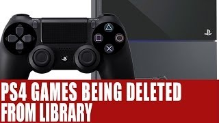 PS4 News - New Playstation 4 Bug Automatically Deleting Games From Library - Saves Untouched