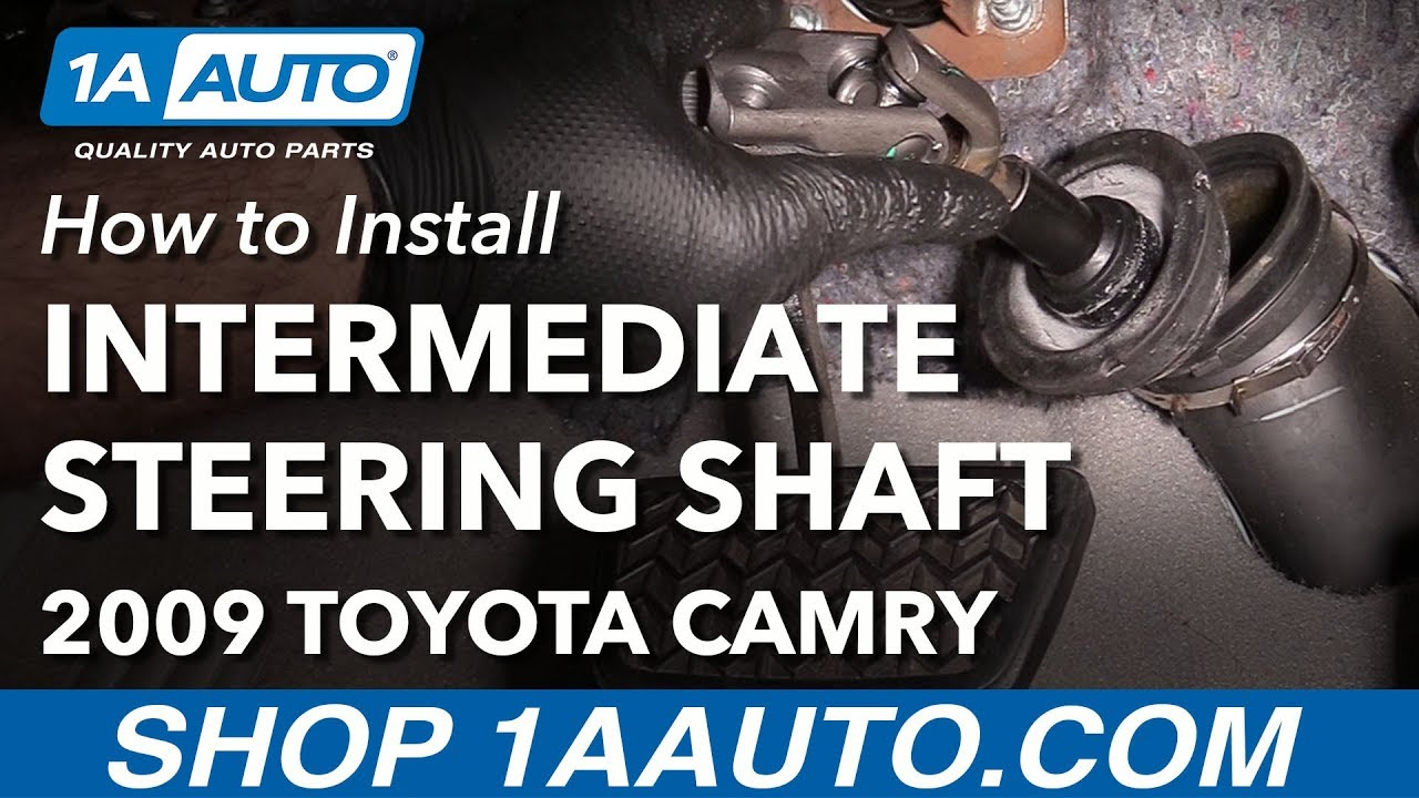 how to install replace lower intermediate steering shaft 2007 11 toyota camry [ 1280 x 720 Pixel ]