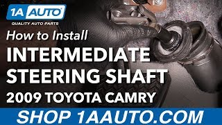 How to Install Replace Lower Intermediate Steering Shaft 2007-11 Toyota Camry