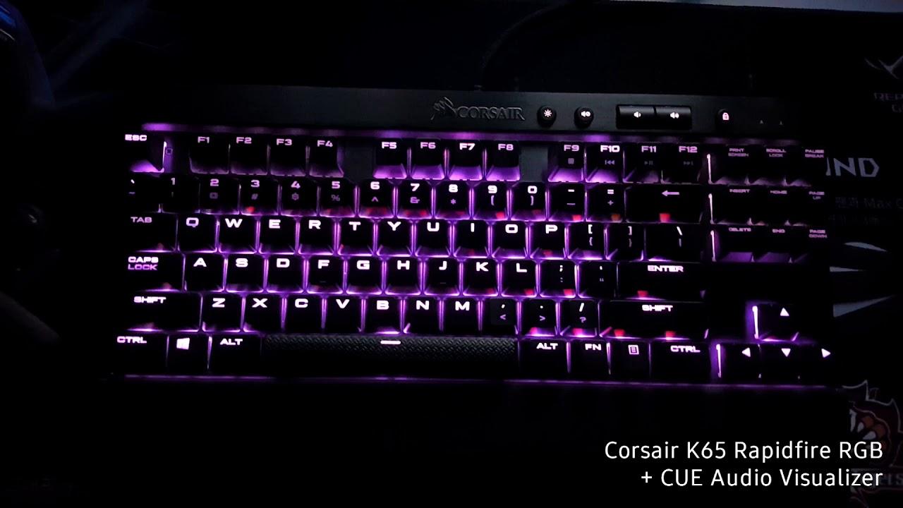 Corsair K65 Rapidfire RGB + CUE Audio Visualizer