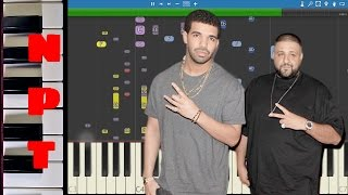 IMPOSSIBLE REMIX - DJ Khaled & Drake - For Free - Piano Instrumental Cover