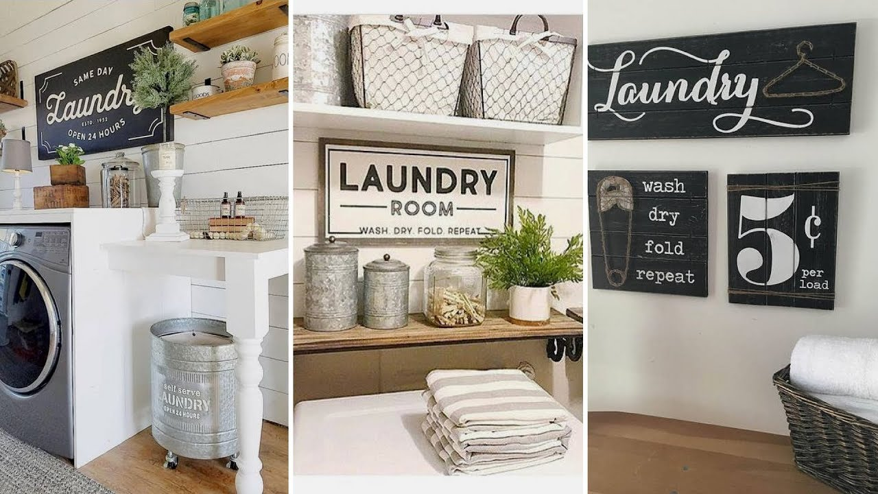 Diy Modern Farmhouse Style Laundry Room Decor Ideas Interior Design Flamingo Mango Youtube
