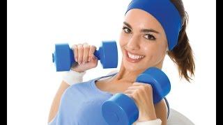 упражнения с гантелями для девушек(Добрый день! Представляем Вашему вниманию комплекс домашних упражнений с гантелями для девушек и женщин...., 2014-08-18T16:15:12.000Z)