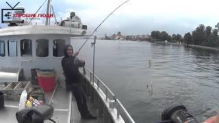 Рыбалка с Джаз-Туром. Дания. Ловим треску и камбалу.(Небольшой видео отчет о морской рыбалке в Дании. Ловля с лодки производится сплавом. Схема простая – капита..., 2015-10-08T10:03:17.000Z)