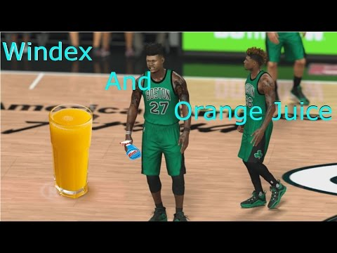 WINDEX AND ORANGE JUICE | BEST GLASS CLEANER EVER!!!!!!!!!!! | NBA 2K17 MY CAREEER