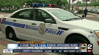 Four Baltimore officers being sued for false arrest, stealing