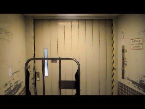 Loads of epic old elevators at Christiansen workshops, Hamburg, Germany