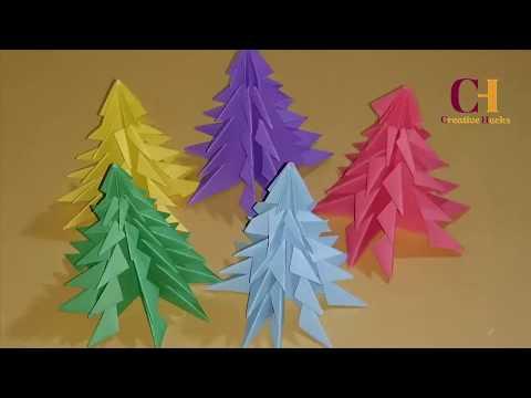 How to Make 3D Paper Christmas Tree | DIY Xmas Tree || Simple & Easy Idea || Creative Hacks ||
