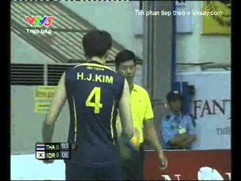 Bong chuyen VTV Sun Group Cup 2011 Thailand Vs Korea Part 1