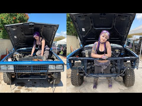 Pulling The Engine + Transmission On My El Camino By Myself! Chevrolet Small Block V8 305