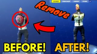 *HOW TO* Remove BACK BLING In SEASON 5 Fortnite Battle Royale! V5.0 EASY WAY!
