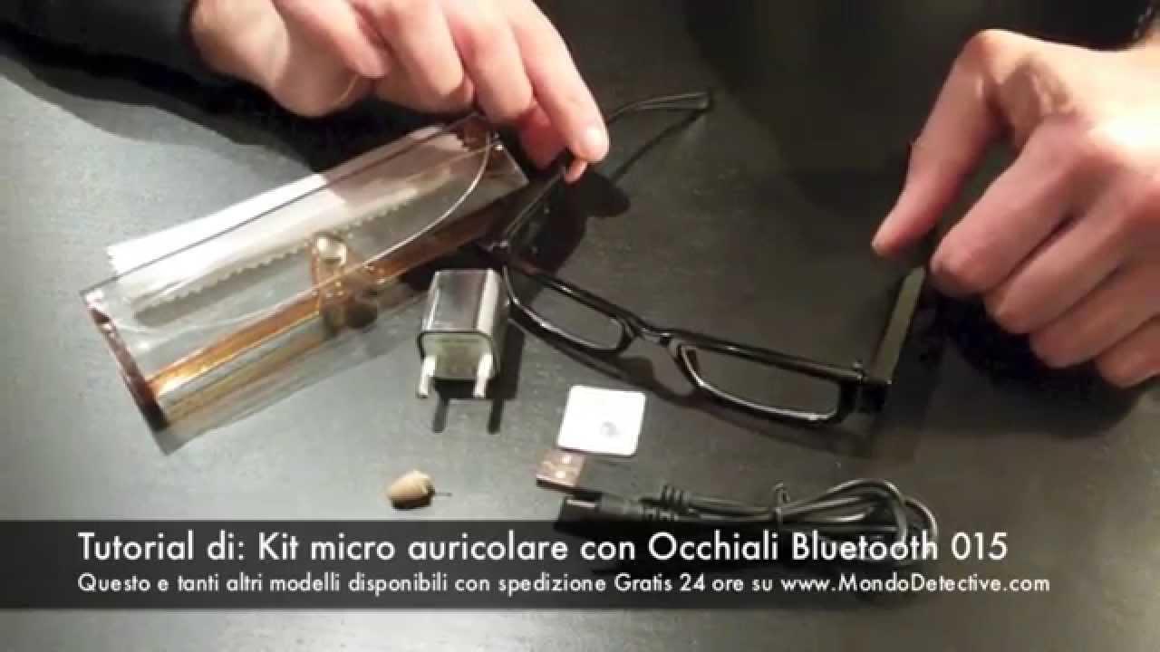 Micro Auricolare Con Occhiali Bluetooth Tutorial Istruzioni Italiano