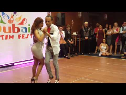 Dubai Latin Fest 2016. Kizomba artists dancing with each oth
