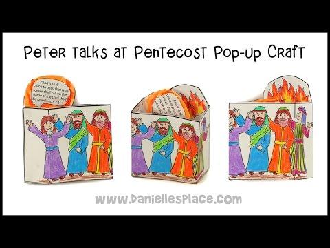 Pentecost Popup Craft Youtube