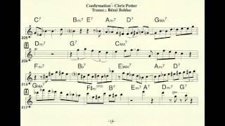 Remi Bolduc transcription : Chris Potter solo on Confirmation